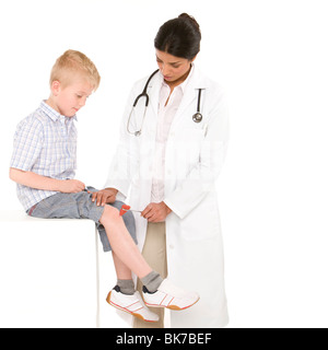 Knee reflex test - Stock Photo