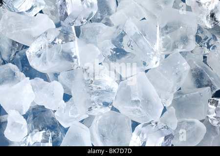 Background in the form of ice cubes - Stock Photo