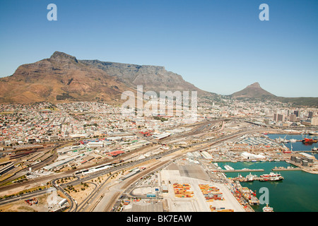 Cape town cityscape and table mountain - Stock Photo