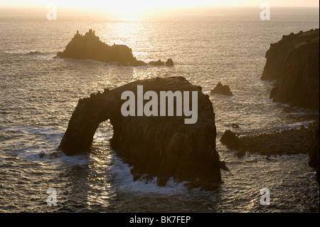 Lands end in cornwall - Stock Photo