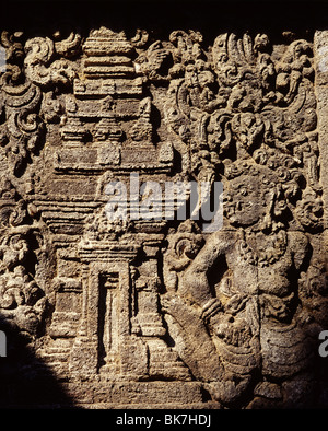 Candi Penataran dating from the 12th century, north of Blitar, is the largest in East Java, Indonesia, Southeast - Stock Photo