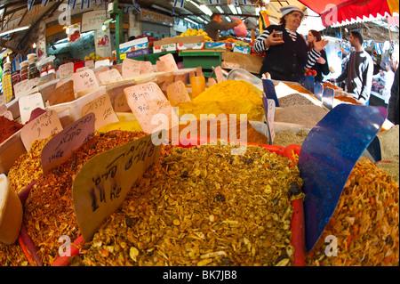 Carmel market, Tel Aviv, Israel, Middle East - Stock Photo