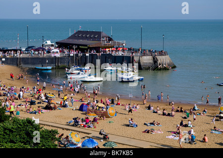 Viking Bay beach, Broadstairs, Kent, England, United Kingdom, Europe - Stock Photo