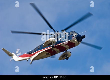 Sikorsky S-61n Mk2 helicopter operated by British International Aberdeen.  SCO 6149 - Stock Photo