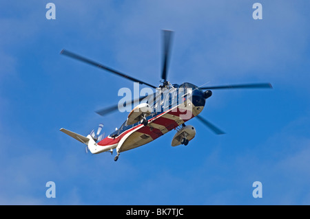 Sikorsky S-61n Mk2 helicopter operated by British International Aberdeen.  SCO 6148 - Stock Photo