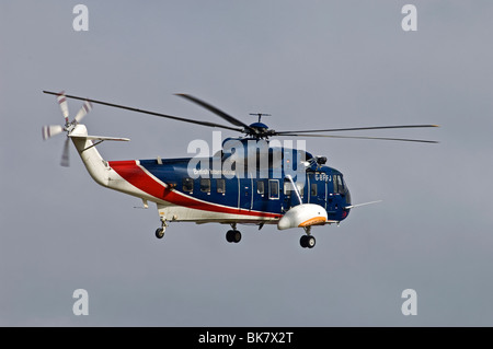 Sikorsky S-61n Mk2 helicopter operated by British International Aberdeen.  SCO 6150 - Stock Photo