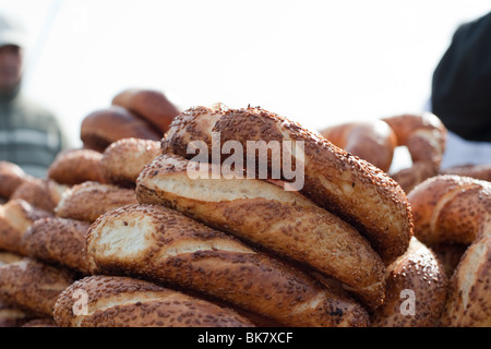 Simit, the traditional Turkish bread - Stock Photo