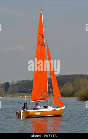 Sailing at Rutland Water, England, UK - Stock Photo