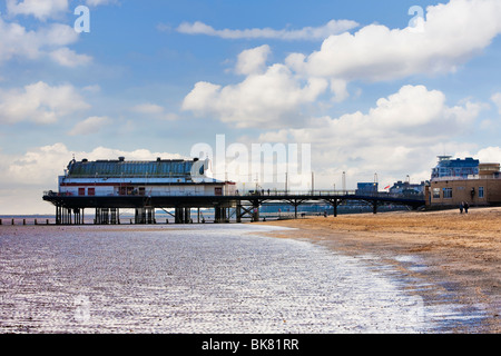 Traditional Pier at Cleethorpes, UK - Stock Photo