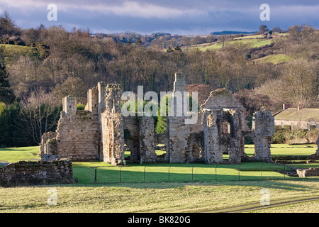 Easby Abbey near Richmond, North Yorkshire, UK - Stock Photo