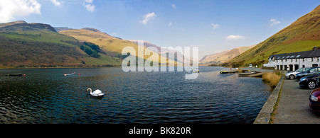 View of Tal-llyn Lake in Snowdonia, Gwynedd, Wales