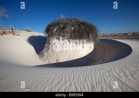 Wind Sculpted Sand Formation, White Sands National Monument, New Mexico - Stock Photo