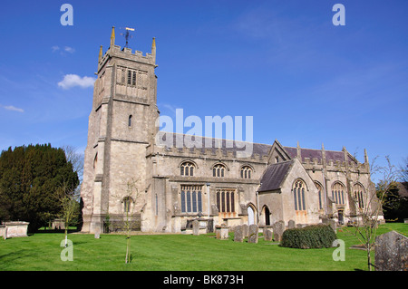 The Parish Church of St.Michael and All Angels, Melksham, Wiltshire, England, United Kingdom - Stock Photo