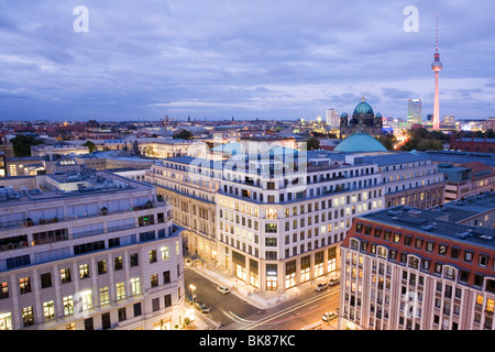 Panoramic view, Berlin, Germany, Europe - Stock Photo