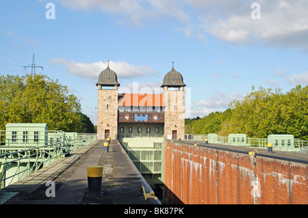 Old shaft lock, Henrichenburg boat lift, Schleusenpark, Waltrop Lock Park, Westphalian Industrial Museum, Route of Industrial H