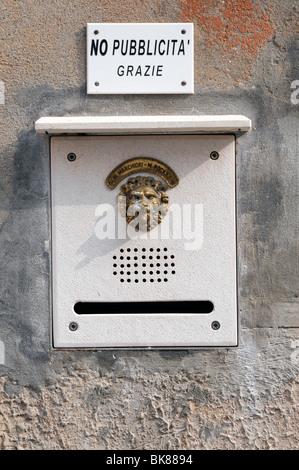 Intercom, inner city, Venice, Veneto, Italy, Europe - Stock Photo