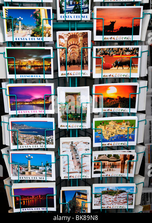 Postcards from the Costa del Sol in Fuengirola, Spain, Europe - Stock Photo
