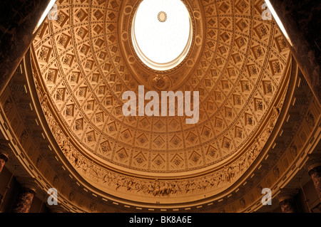 Decorative cupola, detail, in the reception hall of Stowe School, private school since 1923, architecture from 1770, - Stock Photo
