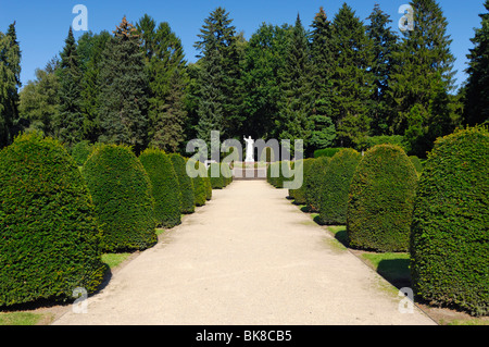 Old-Hamburgian memorial cemetery at the Ohlsdorf cemetery in Hamburg, Germany, Europe - Stock Photo