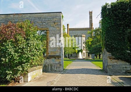 Adult education center, media center, Ravensberger Park, Ravensberger Spinnerei, Bielefeld, East Westphalia Lippe, - Stock Photo