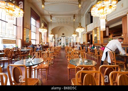 cafe, Municipal House, Obecní dům, Prague, Czech Republic - Stock Photo