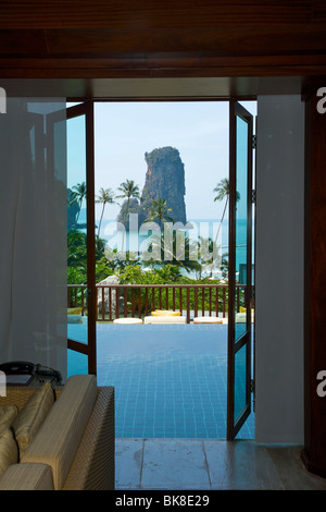 Pool of a a suite at the Centara Resort, Krabi, Thailand, Asia - Stock Photo