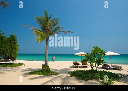 Palm beach, Chaweng Beach, Ko Samui island, Thailand, Asia - Stock Photo