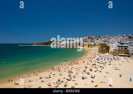 Beach in Albufeira, Algarve, Portugal, Europe - Stock Photo