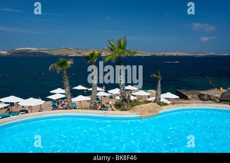 Dolmen Resort in Qawra, Malta, Europe - Stock Photo