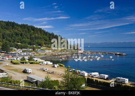 Fishing village Sekiu, West Coast, Olympic Peninsula, Pacific, Washington, USA - Stock Photo