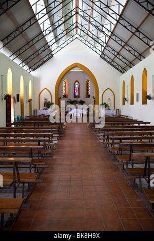 Church on Anse L'Islette, Mahe Island, Seychelles, Indian Ocean, Africa - Stock Photo