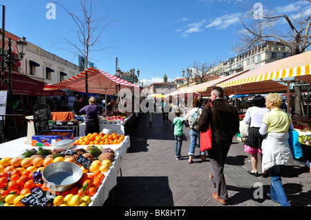 Market in Nice, French riviera - Stock Photo