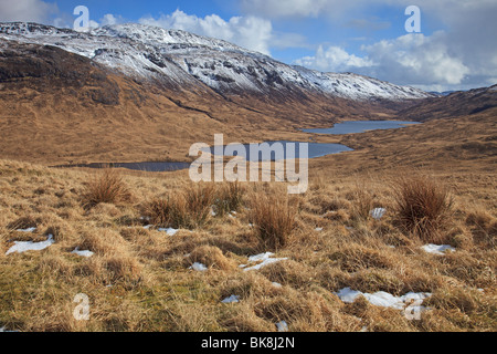 Loch an Eilein, Lochan Ellen, Loch Airdeglais in Glen More, Isle of Mull, Western Isles, Scotland - Stock Photo