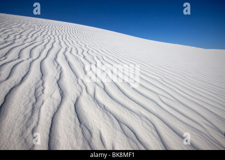Wind Patterns in Sand, White Sands National Monument, New Mexico - Stock Photo