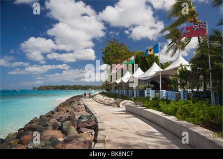 The Beach House Restaurant, St James, Barbados - Stock Photo