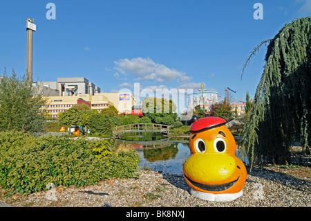 Wunderland Kalkar, amusement park, family park, former fast breeder reactor, nuclear power plant, Kalkar, Lower - Stock Photo