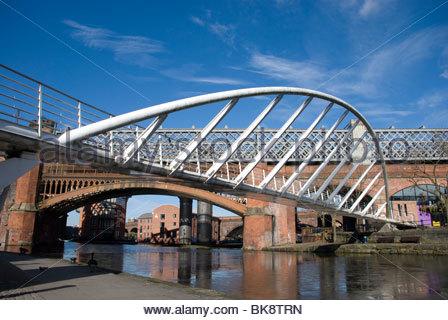 The Castlefield footbridge, Manchester UK - Stock Photo