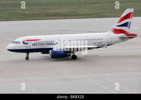 G-EUPX, British Airways Airbus A319-131, Stuttgart Airport, Baden-Wuerttemberg, Germany, Europe - Stock Photo
