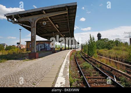 Platform A, Ostkreuz train junction in Berlin, Germany, Europe - Stock Photo