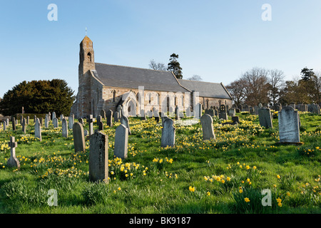 Parish Church of St Michael and All Angels, Ford, Northumberland, England, UK. - Stock Photo