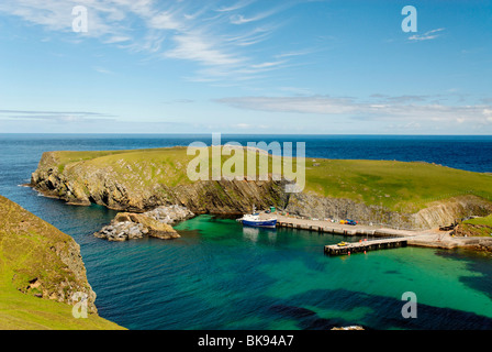 Good Shepherd Fair isle Ferry pulled up on the slip Stock Photo ...