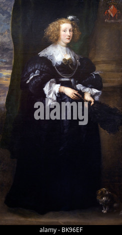 Marie de Raet Wife of Philippe le Roy by Sir Anthony van Dyck, Wallace Collection, London, United Kingdom - Stock Photo