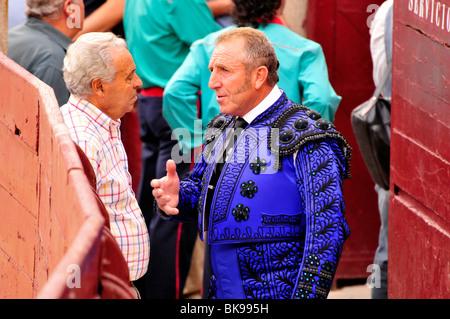 Bull fighter before his performance in Las Ventas Bullring, Madrid, Spain, Iberian Peninsula, Europe - Stock Photo