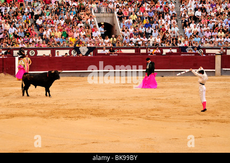 Madrid, Spain. Las Ventas bullring / Plaza de Toros. Bronze relief Stock Phot...