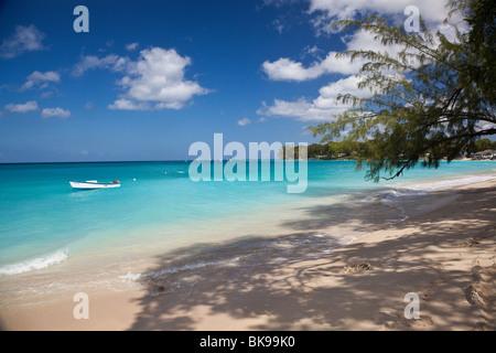 Platinum Coast, St James, West Coast, Barbados, Beach, Caribbean, West Indies, - Stock Photo