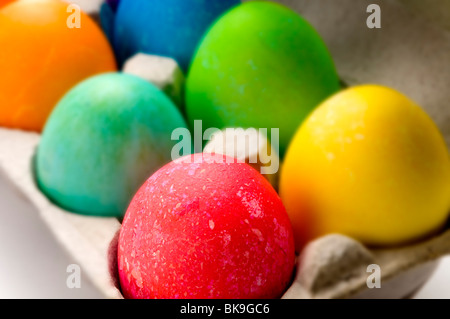 easter eggs colored eggs - Stock Photo