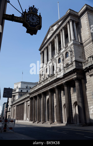 Bank of England on Threadneedle Street in the heart of London financial district, UK - Stock Photo
