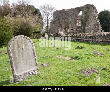 The Church of St Mary and the Holy Rood, Little Chart near Pluckley destroyed by a German V1 - Doodlebug - on 16th - Stock Photo