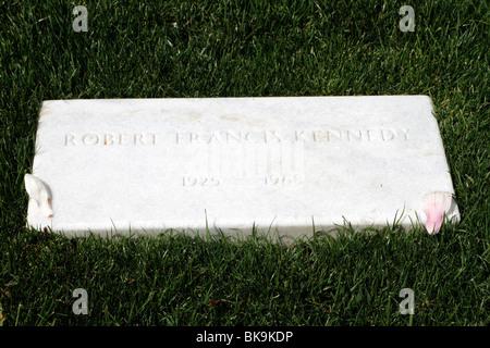 Robert F Kennedy Grave in Arlington National Cemetery, Virginia