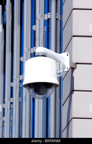 Surveillance camera at the corporate headquarters of the Fresenius SE company in Bad Homburg von der Hoehe, Hesse, - Stock Photo